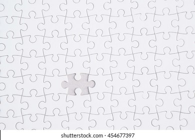 Close up of the last jigsaw puzzle piece, Missing jigsaw puzzle piece