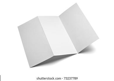 blank leaflet