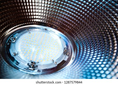 Close up of LED high bay lights,