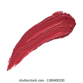 close up of  lipstick or nail polish strokes on white background