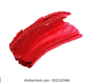 close up of a lipstick paint on white background