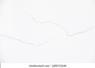 Close up a little crack of white wall for decorative background texture use for cover page and backdrop.