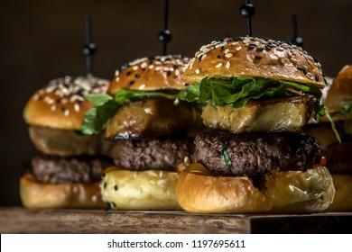 Close up little hamburger series