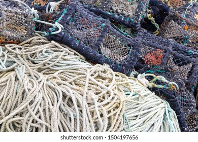 Close up of Lobster Pots and Rope