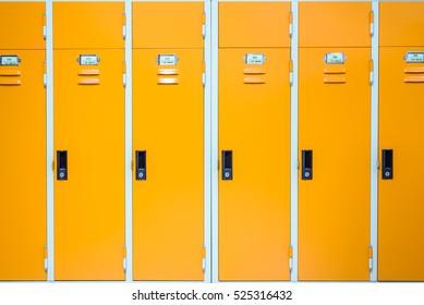 Close up of locker.