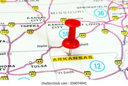 Close Pennsylvania State USA Map Red Stockfoto (Jetzt bearbeiten ...