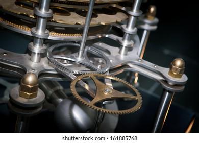 Close up Machine Gear cog, Teamwork