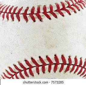 a close up macro of a baseball
