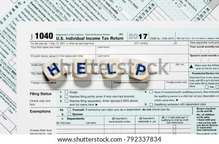 Close Macro Photo USA IRS Tax Stock Photo (Edit Now) 792337834