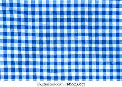 close macro view of blue and white squared texture pattern