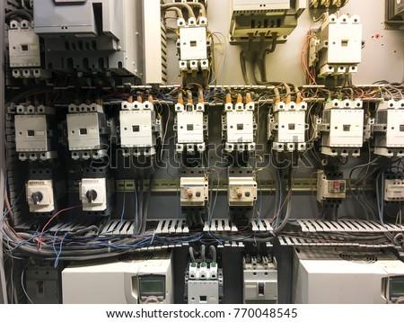 Awe Inspiring Close Main Electrical Circuit Breaker Box Stockfoto Jetzt Wiring Cloud Favobieswglorg