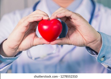 close up of man hands with heart at Thailand