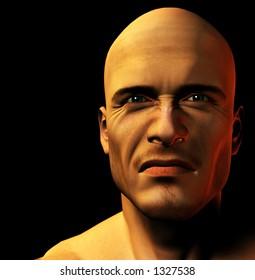 Close up of a Man's face.