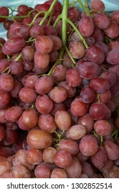 close up many grape in market.