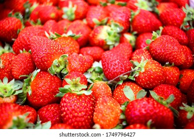 Close Up Of Many Korea Strawberry Stacked Together