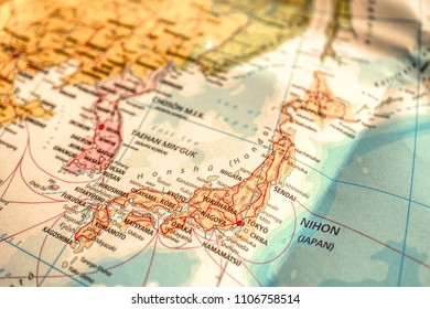Close up Map of Japan