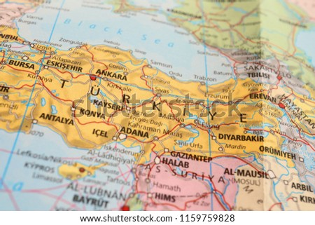 Close Map Middle East Countries Stockfoto (Jetzt bearbeiten ...