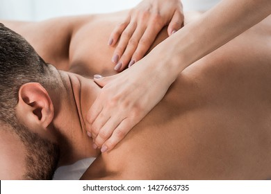 Two girls massage