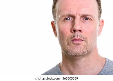 Close up of mature man