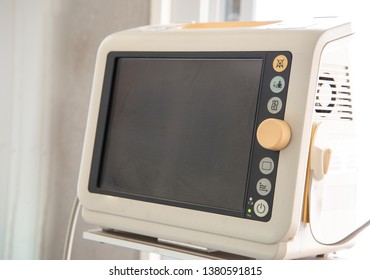 Close up medical equipment in hospital.
