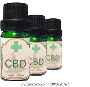 close up of medical marijuana CBD oil