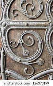 close up of medieval door