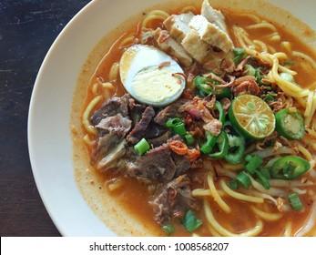 Close up mee rebus, a Famous Asian Noodle