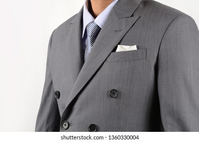 Close Up Of Men In Gray Suit