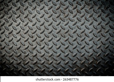 Close up of metal plate to prevent slipping