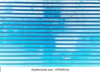 close up of metal roller shutter door
