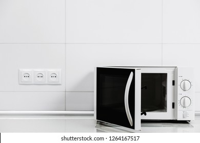 Close up microwave oven.