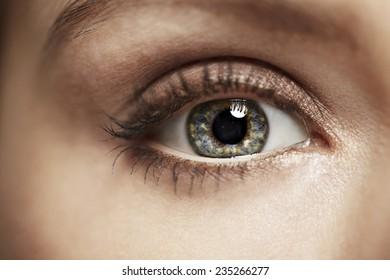 Close up of mid adult woman, studio shot