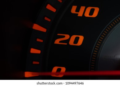 Close up mile number on background