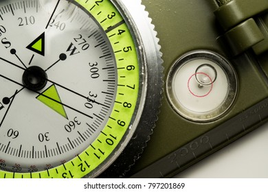Close up of a Military compass