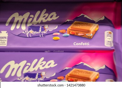 Close Up Of Milka Confetti Chocolate At Amsterdam The Netherlands 2019