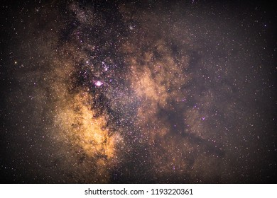 Close up of milky way