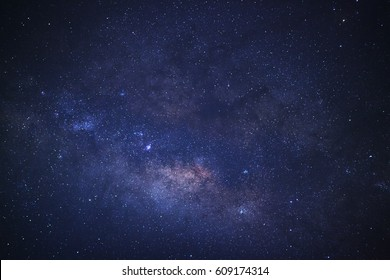 Close up Milky Way Galaxy