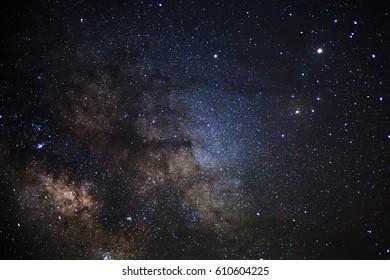 Close up Milky Way, Long exposure photograph