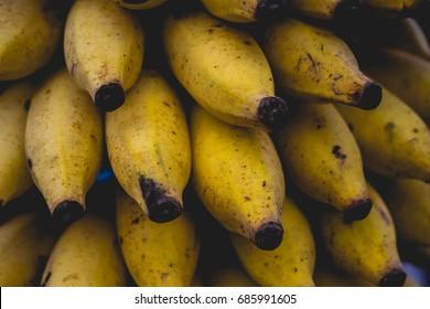 Close up mini bananas