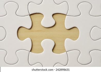 Close Up Missing Puzzle