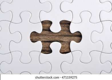 Close up of Missing Puzzle