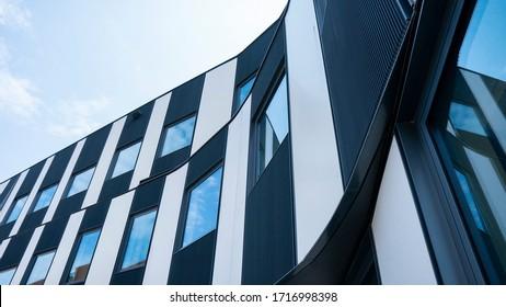 Close up modern building facade.