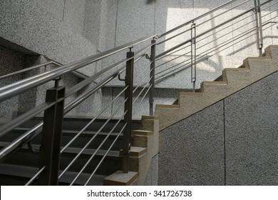 close  up of  modern design  staircase