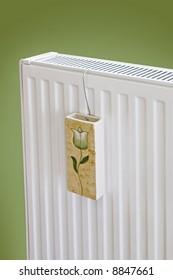 Close up modern radiator decoration - source of heat