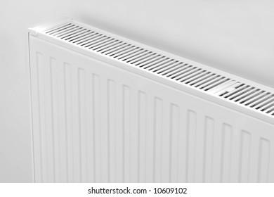 Close up modern radiator - source of heat