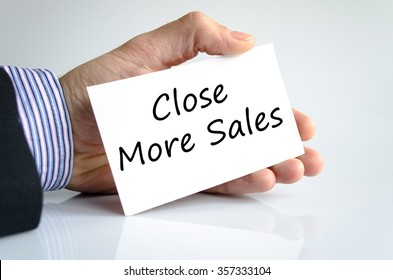 Close more sales text concept isolated over white background