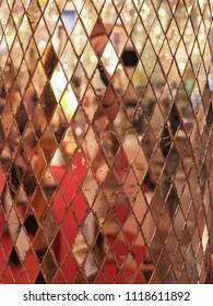 Close up mosaic mirror pattern