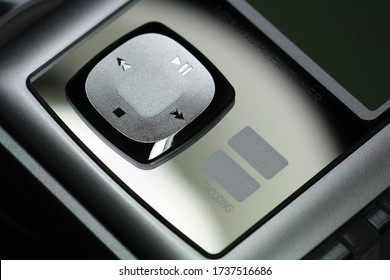 Close up of an mp3 player
