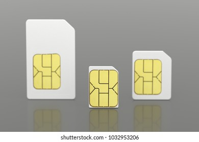 Close up of multiple sim card