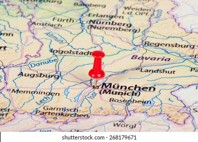 Munich Germany Pin On Map Images, Stock Photos & Vectors | Shutterstock